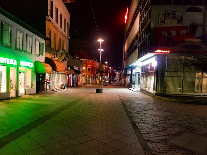 Zenica nocą fotografia stock
