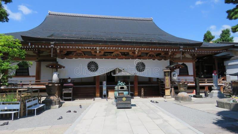 Zenko-ji Tempel in Nagano stockfoto