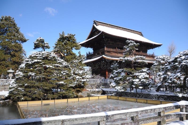 Zenkoji, Nagano, Giappone fotografia stock