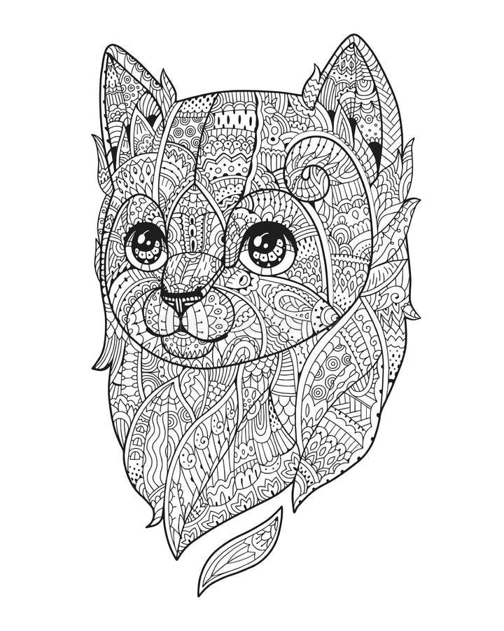 Zenkonstvektor Hand-dragen fluffig bilstående royaltyfri illustrationer