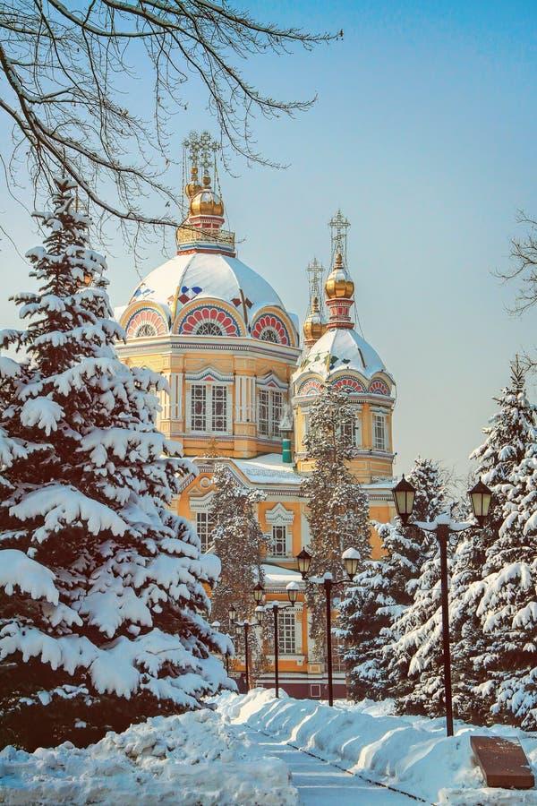 Zenkov katedra w Almaty, Kazachstan obraz royalty free
