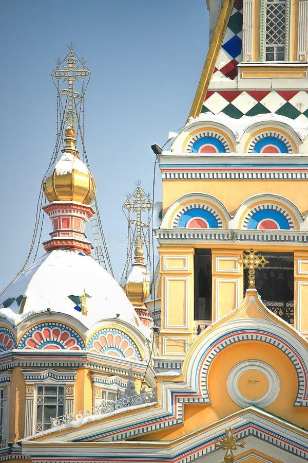 Zenkov katedra w Almaty, Kazachstan zdjęcie stock