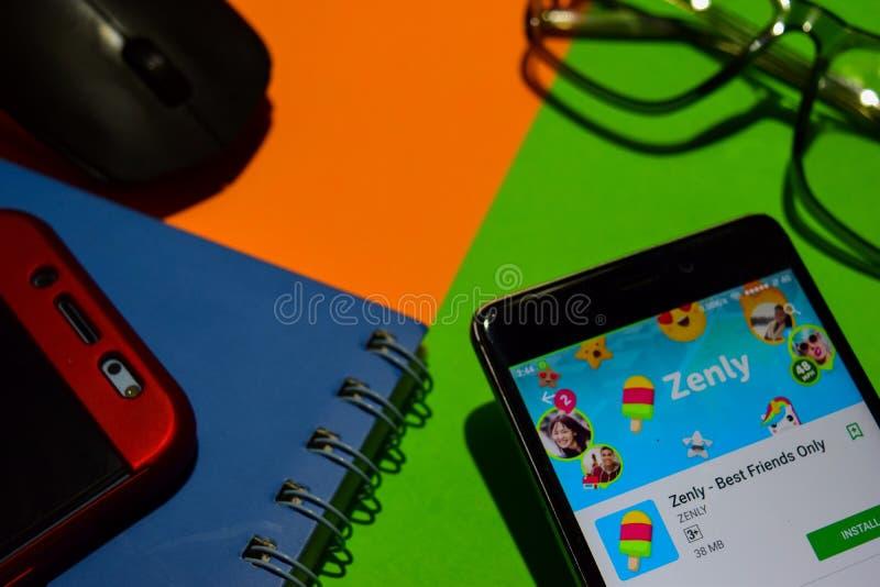 zenly -在智能手机屏幕上的仅最好的朋友dev app