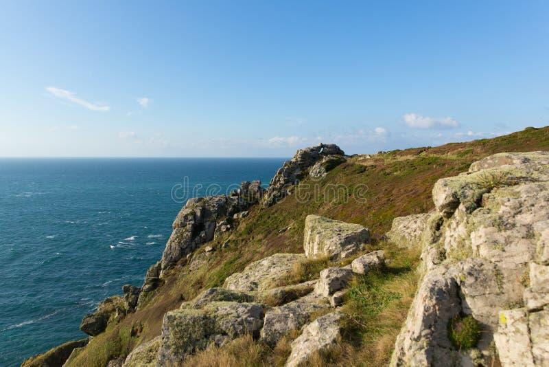 Zennor Hoofdcornwall Engeland het UK dichtbij St Ives stock foto's