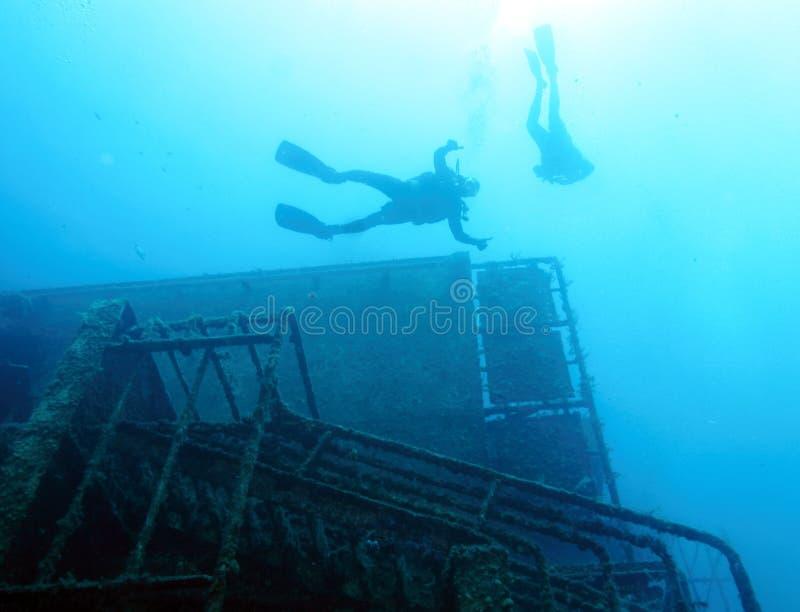 Zenobia在帕福斯附近的船击毁 库存照片