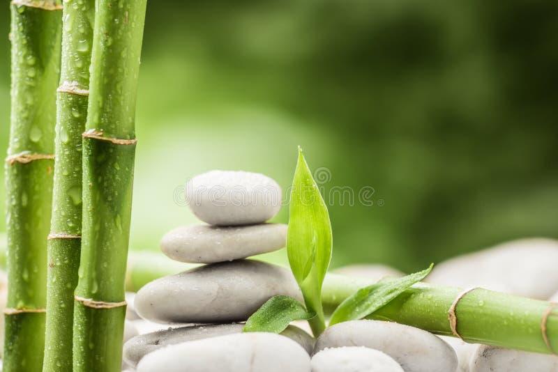 Zensteine und -bambus lizenzfreie stockbilder