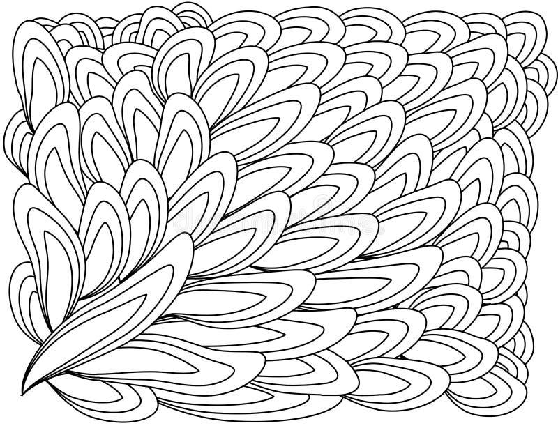 zentangl da ilustração Quadro da flor para a foto Livro de coloração Antistress para adultos e crianças Rebecca 36 ilustração royalty free