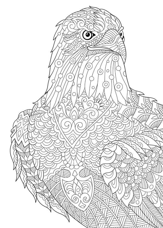 Zentangle传统化了老鹰 向量例证
