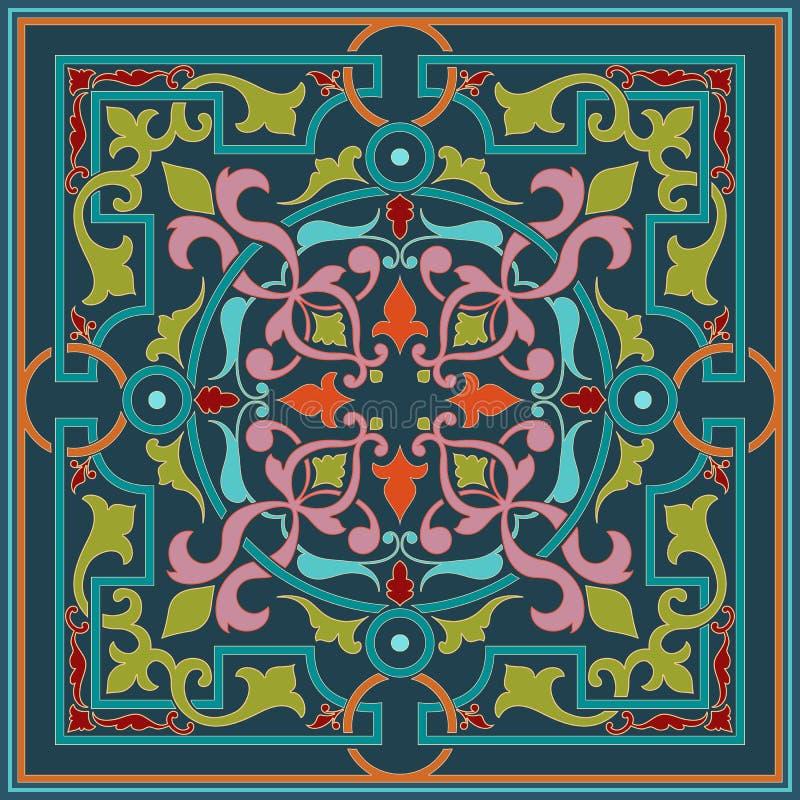 Zentangle称呼了几何装饰品样式元素 东方传统装饰品 Boho称呼了 抽象几何 向量例证