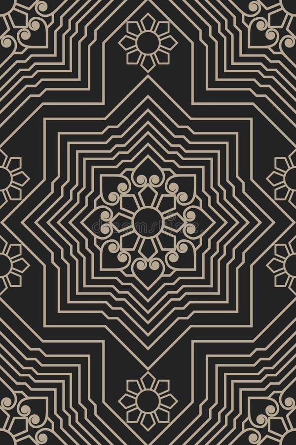 Zentangle称呼了几何装饰品样式元素 东方传统装饰品 Boho称呼了 皇族释放例证