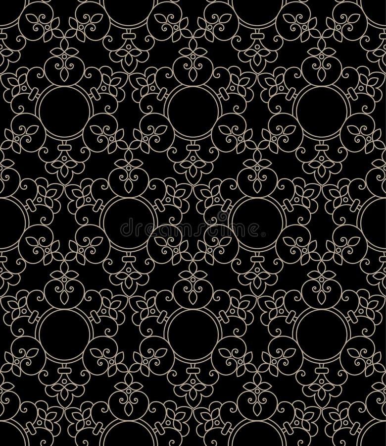 Zentangle称呼了几何装饰品样式元素 东方传统装饰品 Boho称呼了 库存例证