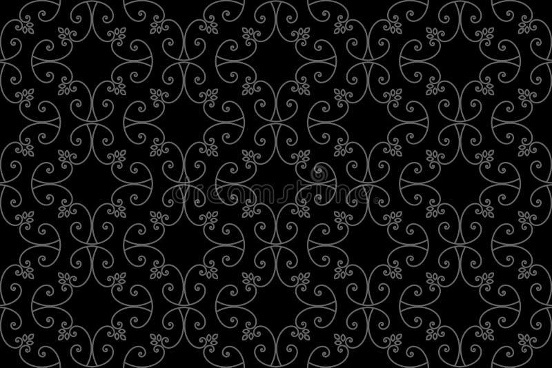 Zentangle称呼了几何装饰品样式元素 东方传统装饰品 Boho称呼了 向量例证