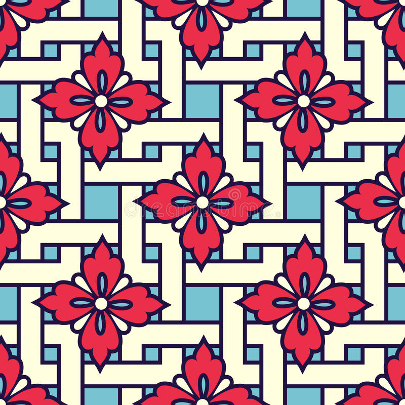 Zentangle称呼了几何装饰品样式背景 东方传统装饰品 Boho称呼了 库存例证