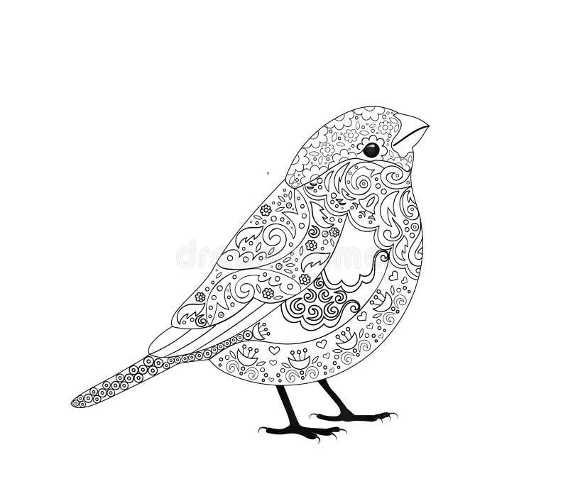 Zentangle鸟五颜六色的样式 皇族释放例证