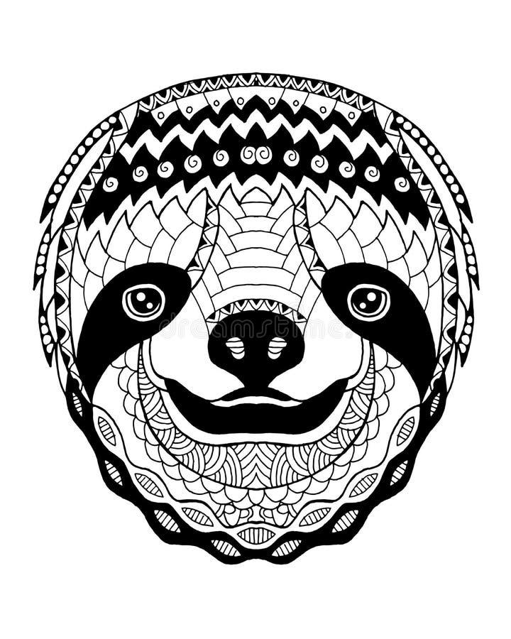 Zentangle лени стилизованное freehand иллюстрация вектора стоковая фотография rf