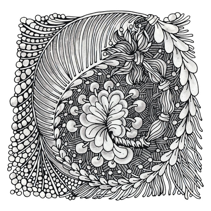 Zentangle royaltyfri illustrationer