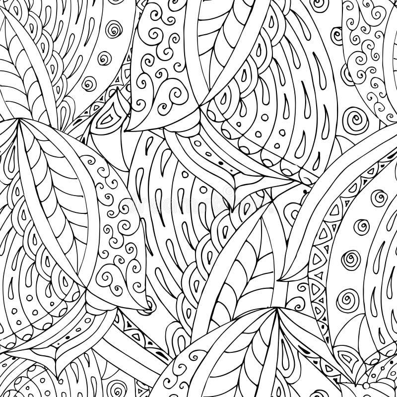 Zentangle 6 stock illustrationer