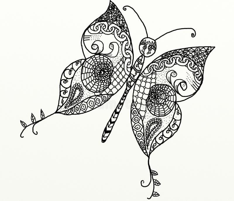 download zentangle蝴蝶 库存图片.