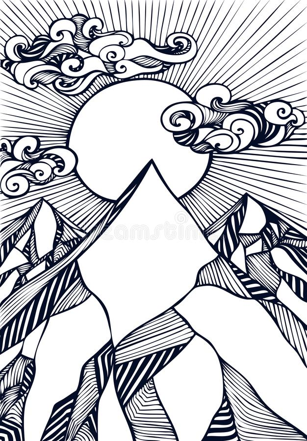 Zentangle Landscape Stock Illustrations – 375 Zentangle ...