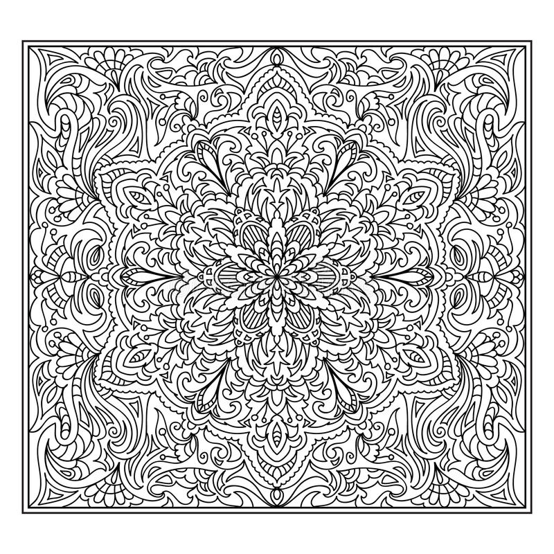 Zentangle abstrait de mandala illustration libre de droits