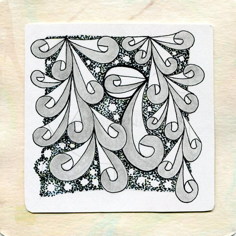 Zentangle art doodle tattoos stock image