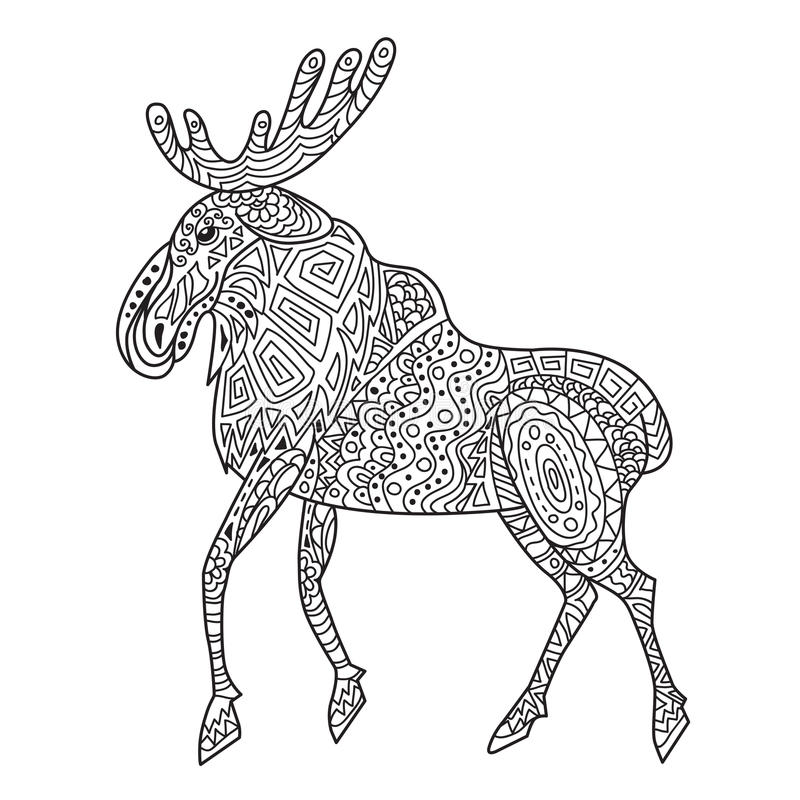 Elk Head Coloring Pages