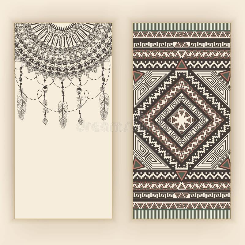 Zentangle blom- prydnad Den dekorativa vektorn snör åt med arabesquebeståndsdelar Mehndi stil stock illustrationer