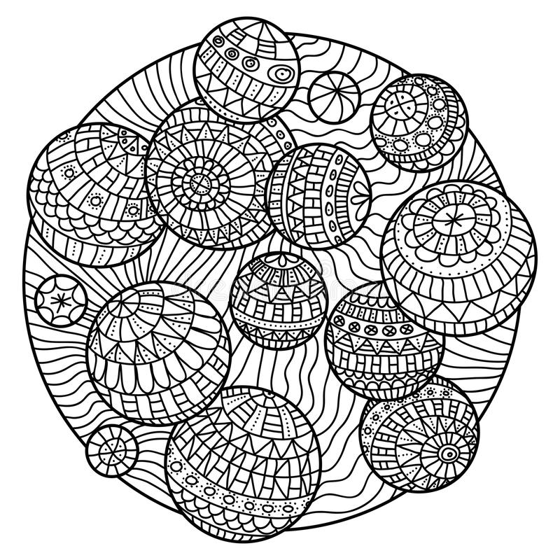 - Zentangle Coloring Book Stock Vector. Illustration Of Circle - 64661503