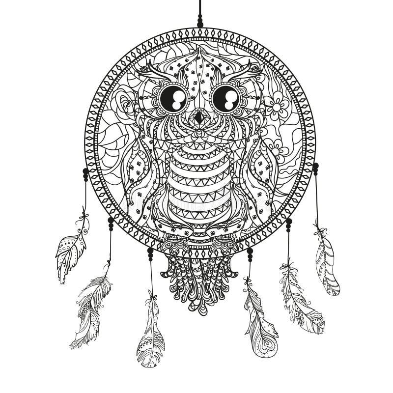 Zentangle de conception Schéma illustration de vecteur