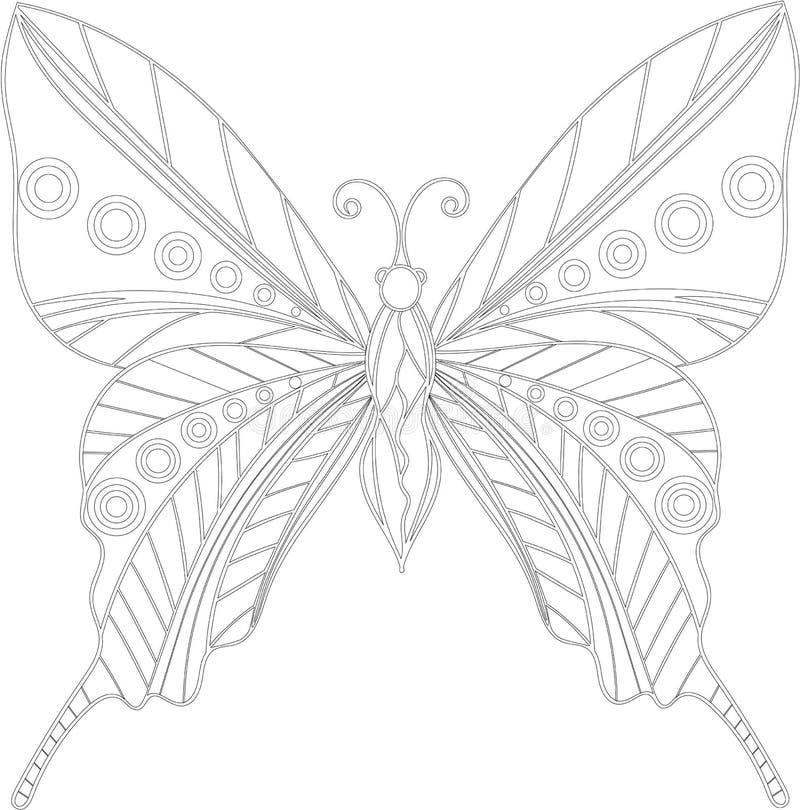 zentangle de la mariposa ilustración del vector