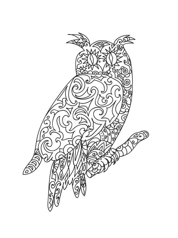 Zentangle del BÚHO libre illustration