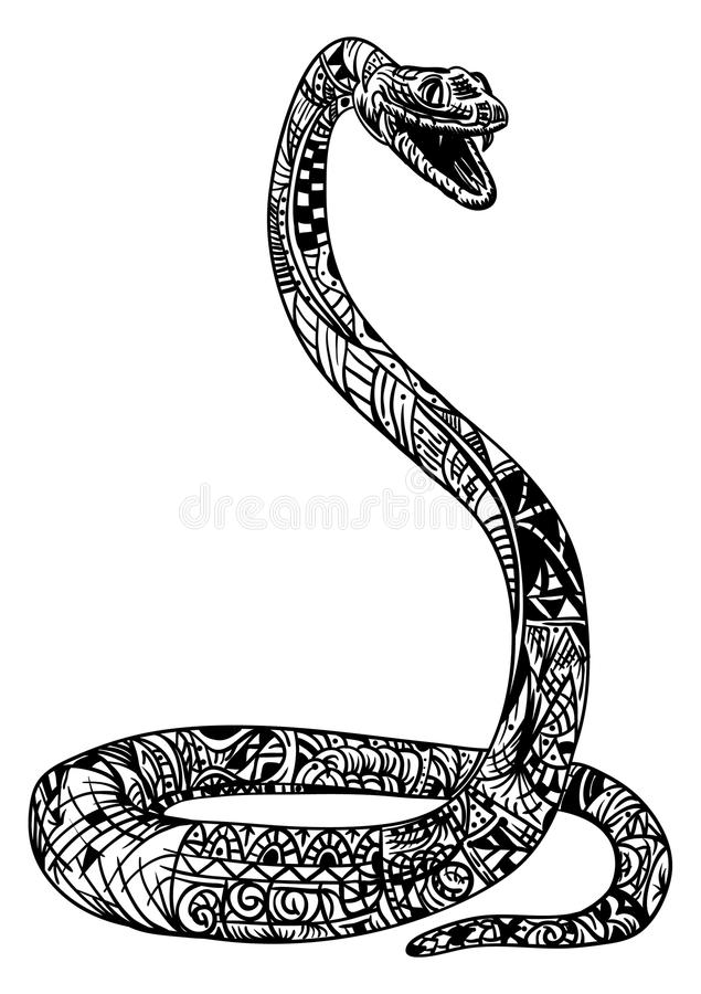 Zentangle del serpente