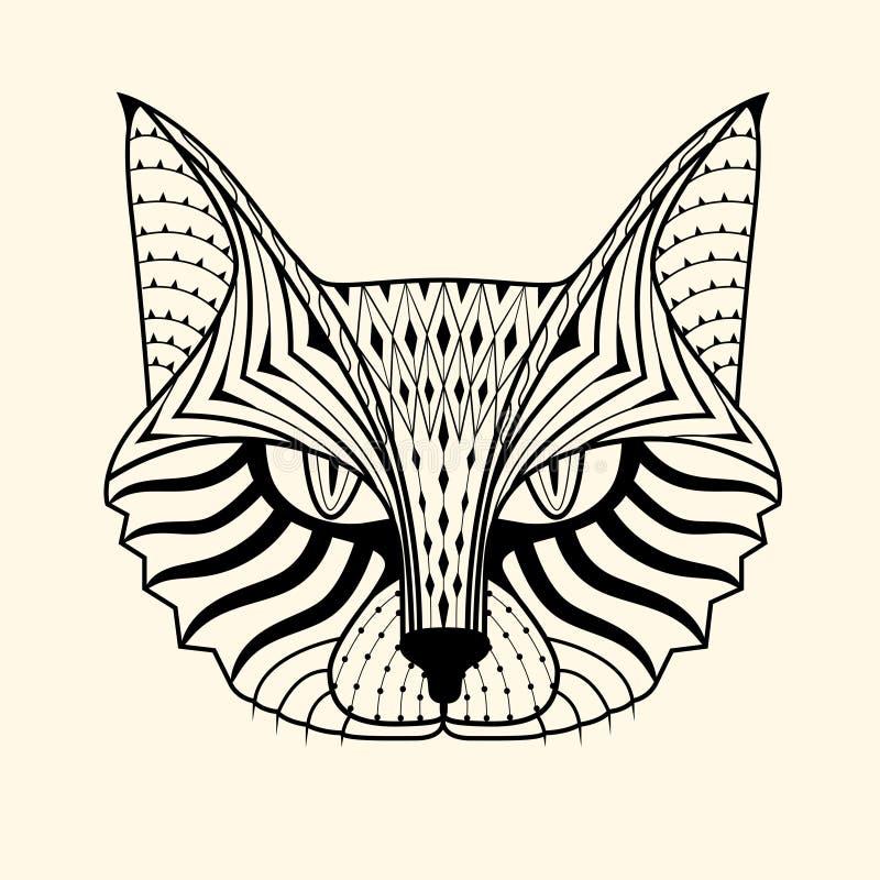 Zentangle do gato fotografia de stock royalty free