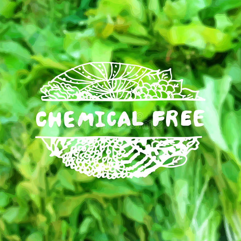 Free Zentangle Element On Blurred Background. Chemical Royalty Free Stock Photography - 51095407