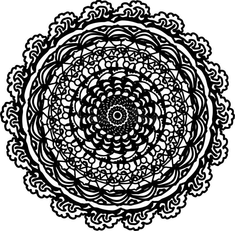 Zentangle esperanzado de la mandala de la vida libre illustration