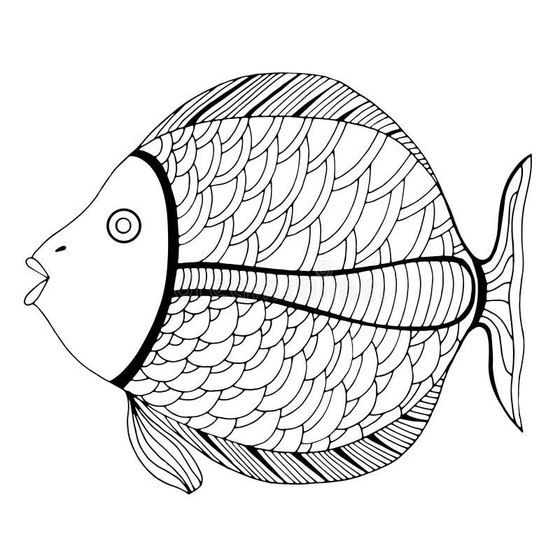 Zentangle estilizó pescados libre illustration