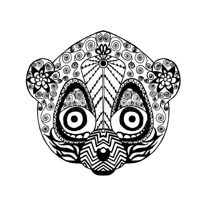 Zentangle gestileerde maki Schets voor tatoegering of t-shirt royalty-vrije illustratie
