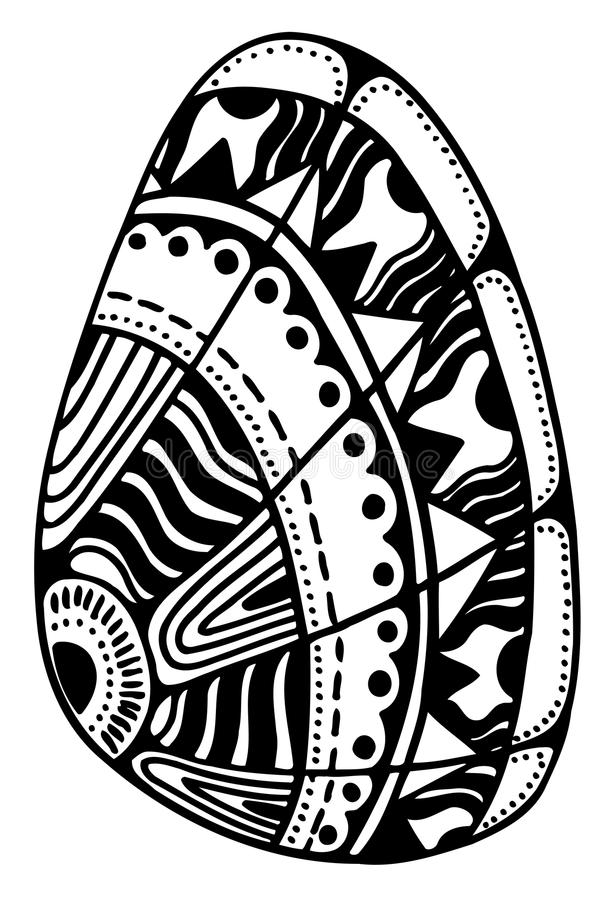 Zentangle gestileerde shell vector illustratie