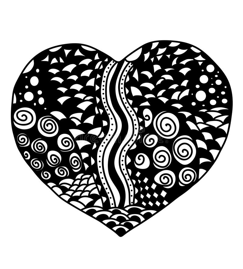 Zentangle heart royalty free stock images