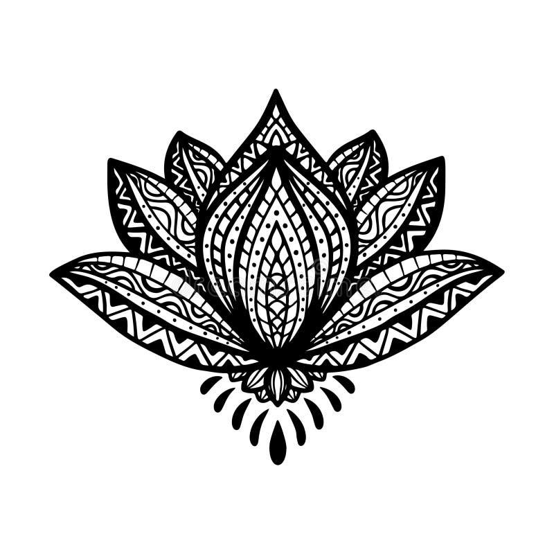 Zentangle Flower Tattoo Zentangle Lotus Flower...