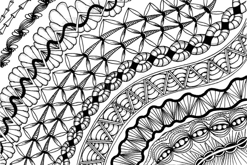 Drawing Lines With Core Graphics : Zentangle meditative drawing stock illustration