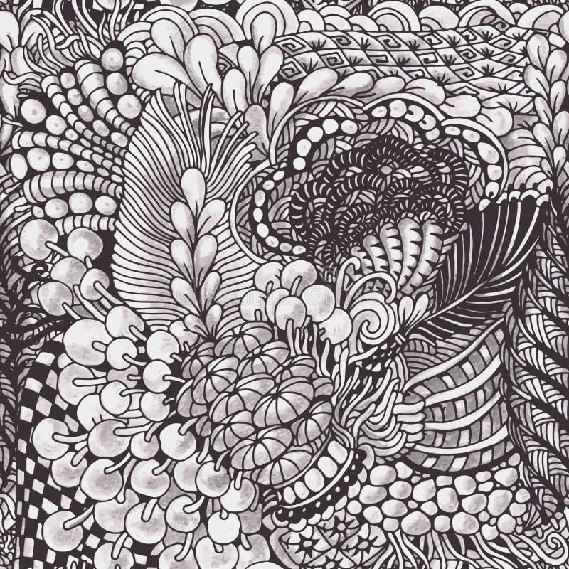 download zentangle muster vektor abbildung illustration von kurve 49947741 - Zentangle Muster