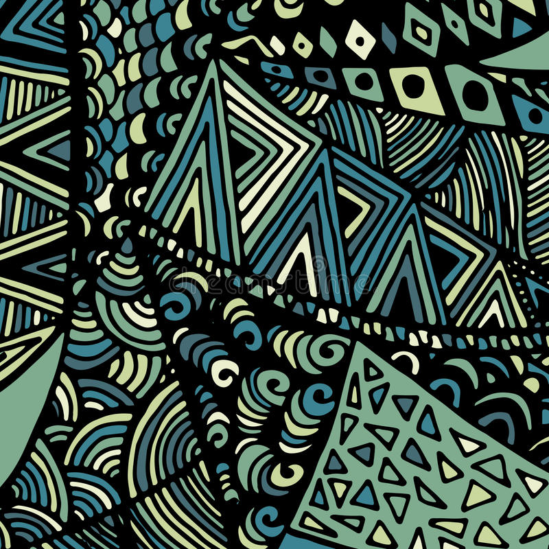 Zentangle ornament. Colorful texture for backgrounds. Made by trace from personal hand drawn sketch royalty free illustration
