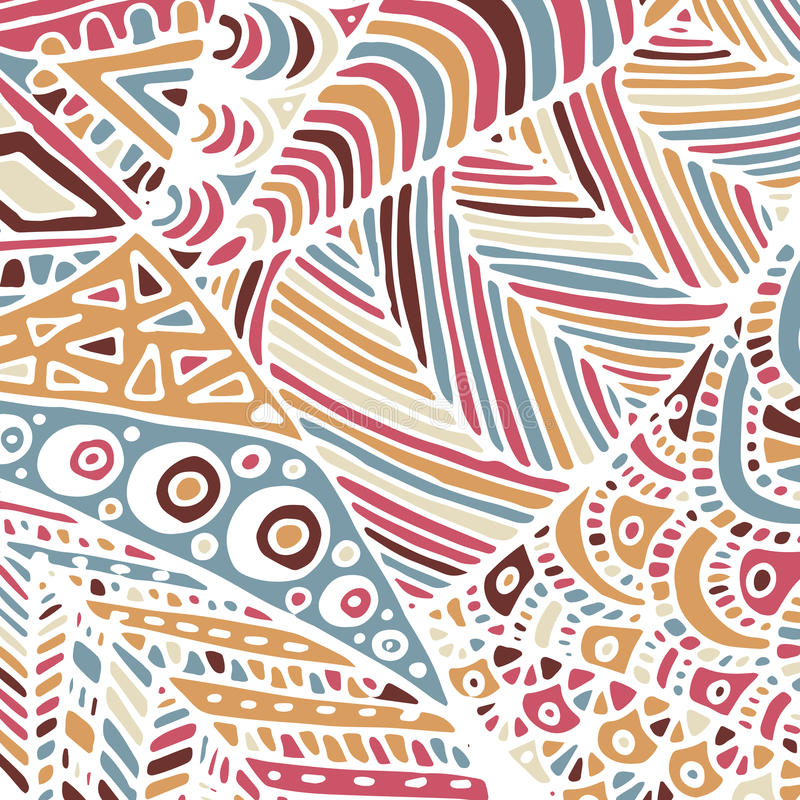 Zentangle ornament. Colorful texture for backgrounds. Made by trace from personal hand drawn sketch vector illustration