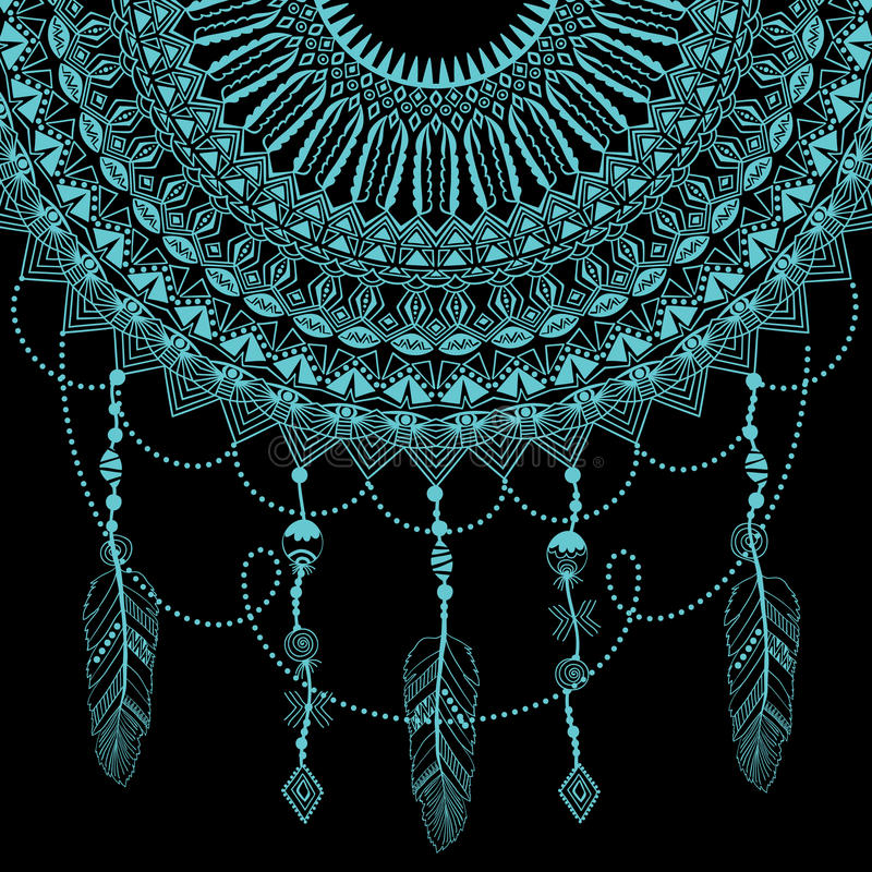 Zentangle rund blom- prydnad Snör åt den dekorativa rundan för vektorn med arabesquebeståndsdelar Mehndi stil vektor illustrationer