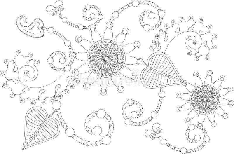 Download Zentangle Stiliserade Den Drog Svartvita Handen För Blommor Vektor Illustrationer - Illustration av huvud, mönstrat: 76700160
