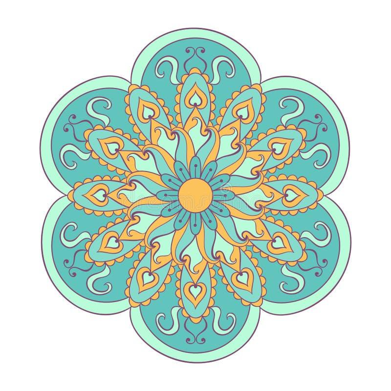 zentangle stilisierte die arabische farbe, indische