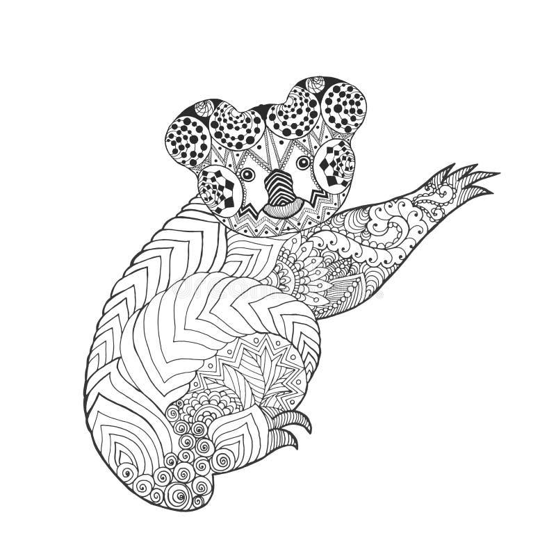 Zentangle stilisierte Koala vektor abbildung