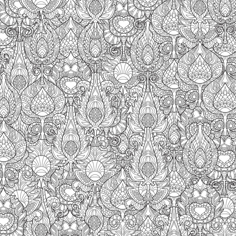 Zentangle stilisierte Pfaufeder vektor abbildung