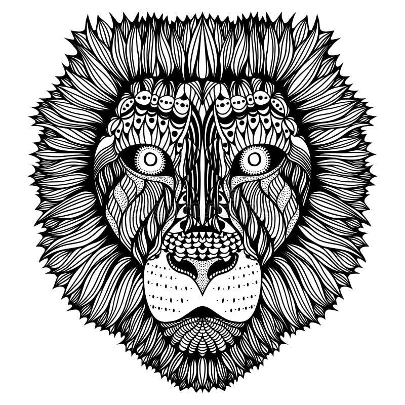 Zentangle stilisierte Tigergesicht vektor abbildung